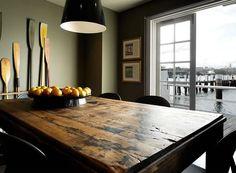 Old wood table Australian Interior Design, Interior Design Awards, Man Cave Home Bar, Shabby, Old Wood, Farmhouse Table, Bars For Home, Wood Table, Rustic Table