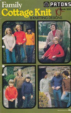 Patons Knitting Pattern Family Cottage Knit  by jennylouvintage