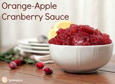 Cranberry Orange Apple Sauce: the best cranberry sauce ever!