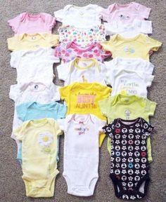 BABY Girls Carter's NEWBORN 0-3 Months ONESIE Lot ONE PIECES Clothes Daddys Girls  Make me an Offer!!!!