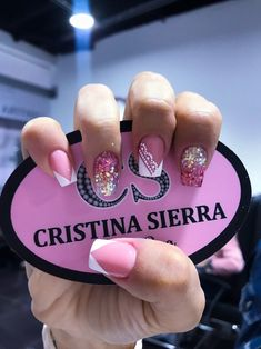 Sparkle Nails, Pink Nails, Short Nail Designs, Nail Art Designs, Hair And Nails, My Nails, Magic Nails, Fall Nail Colors, Cute Acrylic Nails