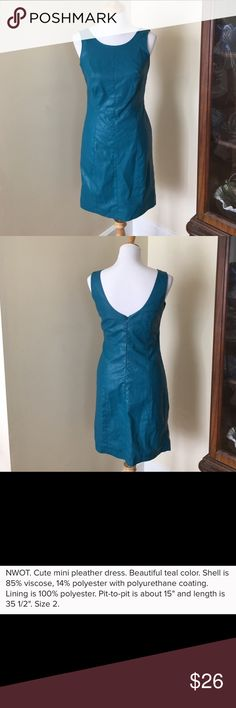 Nicole by Nicole Miller pleather dress NWOT. Size 2. See last photo for full details. Nicole by Nicole Miller Dresses Mini