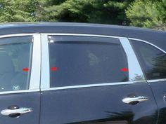 PP27298 QAA FITS MDX 2007-2013 Acura 6 Pc: Stainless Steel Pillar Post Trim Kit, 4-Door, SUV