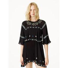 Ethnique Sauvage Robe Zara en viscose et polyester 65,95€  www.zara.com