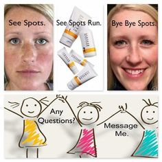 Happy Sunday everyone! It's a beautiful day today and I will be using my REVERSE regimen SPF sunscreen as I enjoy it!! See spots, See spots run, BYE BYE spots!