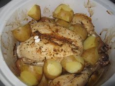 Smashed Peas and Carrots: Crockpot Roast Chicken Dinner