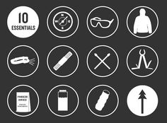 10 essentials outdoor icons - Google Search