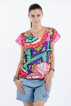 ea12d70ab2b6 D Fever · Petunia Rep Top from Desigual Apparel Best Brand, Luxury  Branding, Lifestyle, Stuff To