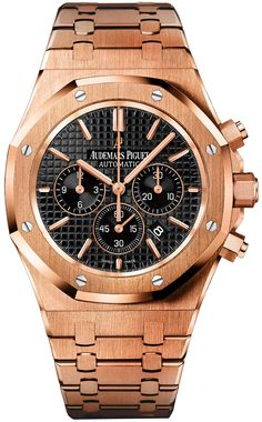 Audemars Piguet Royal Oak Chronograph 41mm 26320or.oo.1220or.01 Fine Watches, Cool Watches, Rolex Watches, Unique Watches, Stylish Watches, Wrist Watches, Vintage Watches, Audemars Piguet Gold, Audemars Piguet Watches