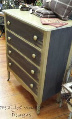 Dresser painted with American Paint Company Lincoln's Hat and Desert Cactus finished with topcoat
