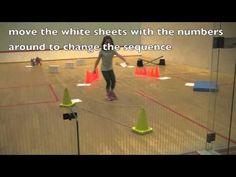 Zoek het goede nummer en spring als een paard, beweging voor kleuters / horse show jump parcours for preschool