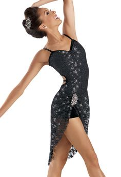 Glitter Lace High-Low Dress -Weissman Costumes