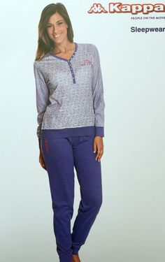 Pigiama Donna  KAPPA  Cotone 100% Homewear Polsini ASS. Taglie e Colori DD