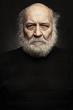 ♂ Man portrait face of Old Man by Eren Yigit, old face, beard, wrinckles, aged, lines of Life, cracks in time, powerful, intense eyes, strong, portrait, photo: