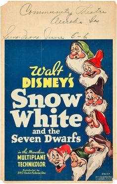 Filmic Light - Snow White Archive: sw handbill/herald/window card