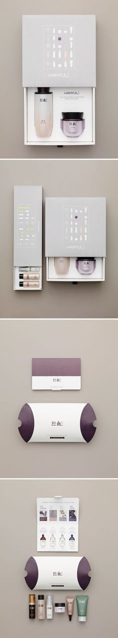 HANYUL Package Design_ Korean Packaging Design Beautiful Cosmetic Packaging PD Source by ozykskn Skincare Packaging, Perfume Packaging, Cool Packaging, Bottle Packaging, Cosmetic Packaging, Beauty Packaging, Brand Packaging, Packaging Dielines, Cosmetic Design