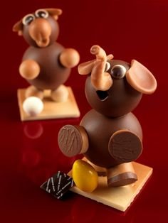 Chocolate sculptures for a party!
