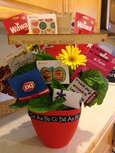 Gift card bouquet for different places on campus perfect for gift card bouquet negle Choice Image