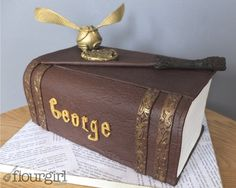 Harry Potter Book Cake - by Flourgirlcakes @ CakesDecor.com - cake decorating website