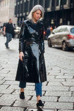 Street style during Milan Fashion Week Fall/Winter 2017/18