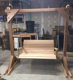 Cedar porch swing and structure