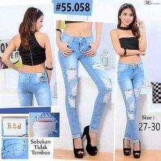 """""Ripped jeans RIJ 55058 Material: soft jeans Harga: 135 Size: 27-30 Order PIN CS1-5A1F32FA PIN CS2-5FI5DE72 & SMS/WA 087722-575-101  Reseller & Dropship Welcome!  Happy Shopping! :) #jamtangan #jamtanganwanita #jammurah #grosirjam #sweatercouple #flatshoes #jamtanganterbaru #resellerjamtangan #taswanita #sneakerscwe #celanajeansripped #jamtanganartis #olshop #wedgesterbaru #jaketjeans  #resellerwelcome #celanajeans #sepatubandung #celanajeanshw"