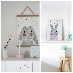 Deze lieve konijnen posters fleuren de kamer van jouw kleintje op, maar staan vast ook heel mooi als decoratie in de speel- of woonkamer. www.zizimala.nl