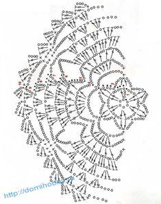 Esquema Diagrama Patrón Ganchillo Crochet схема салфетки 16
