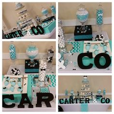 """CARTER & CO  #babyshower #tiffanyblue #candybar #sweetaffairs #carterandco #tiffanyandco #dessertbar #eventplanning"""