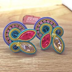 Happy #Doricsenger #earrings #colors #clips #earrings #fashion #ss2015 #summer #style #fun #springcolors #design #happy