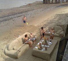 Sand Furniture Beach Party Fun Picnic Trip