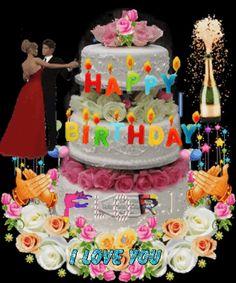 Happy Birthday Chocolate Cake, Happy Birthday Wishes Cake, Happy Birthday Cake Images, Happy Birthday Friend, Birthday Blessings, Happy Birthday Messages, Happy Birthday Greetings, Image Jesus, Happy B Day