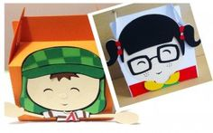 FREE studio cut file boxes gable party food students boy girl favour treat