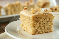Banana Cake with walnuts and Brown butter Frosting