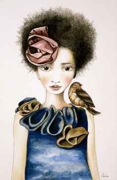 large art print  the rose and the bird by PrintIllustrations, $25.00