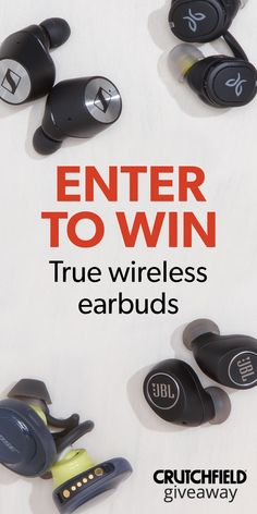 Enter to win 1 of 24 pair of Truly Wireless headphones that Crutchfield is giving away Enter To Win, Wireless Headphones, Music, Crutch, Acv, Bose, Giveaways, Ideas, Products