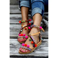 Sandals Gipsy Spell (Hadmade to Order) ($281) ❤ liked on Polyvore featuring shoes, sandals, gladiator & strappy sandals, grey, women's shoes, neon sandals, summer sandals, strap sandals, gladiator sandals and strappy gladiator sandals