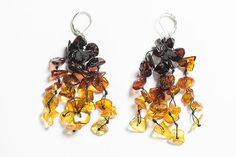 Baltic amber earrings. Natural beaded by LuxuryBalticAmber on Etsy, $12.99