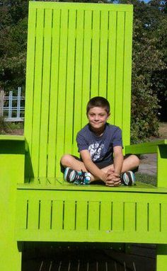 beautiful boy in awesome chair :) submitted by Alane E-W summer 2011