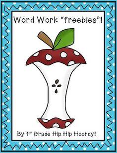 """Word Work """"freebies""""!"""