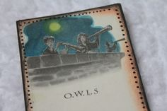 Harry Potter Page Bookmark - PAPER CRAFTS, SCRAPBOOKING & ATCs (ARTIST TRADING CARDS)