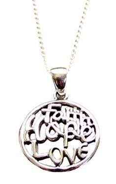 """Faith Hope Love"" Sterling Silver Pendant Necklace 18"" Heart Projects http://www.amazon.com/dp/B00B8XOEB4/ref=cm_sw_r_pi_dp_rw33ub1E62JWB"