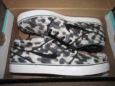 Nike SB Zoom Janoski Mid Snow Leopard Skate Shoes Mens 13 Summit White 443095 #Nike #Skateboarding