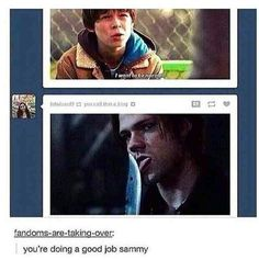 Yeah cause knife licking is so normal, come on sammy
