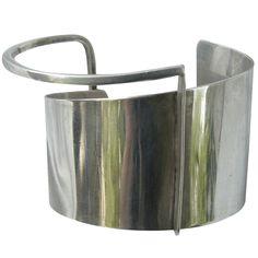 Cuff bracelet   Ed Wiener.  Sterling Silver.  ca. 1950s