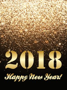 send free golden glitter happy new year card 2018 to loved ones on birthday greeting cards by davia its free and you also can use your own customized