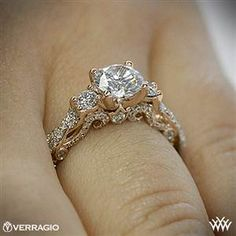 Verragio Braided 3 Stone Engagement Ring. okay its so much better in the rose gold