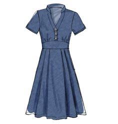 J'imagine ce modèle de robe couleur crème avec de la dentelle et une ceinture contrastée.