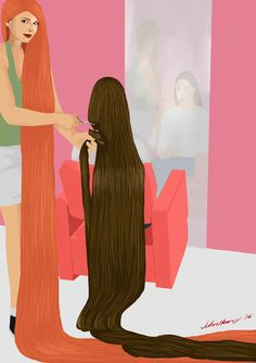 Request : Chandra cut Cheryl's hair by JohnHeavy.deviantart.com on @DeviantArt