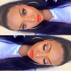 #ShareIG ✨@IrisBeilin✨ looking so gorgeous in orange! Lashes:: #FlutterLashes in #Paige from our Xtreme Collection and lipstick by @meltcosmetics in bang bang ✨Visit us at FlutterLashes.com✨